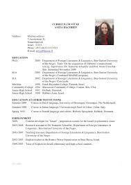 exle of how to write a resume academic cv exle