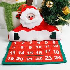 santa claus advent calendar hanging decoration