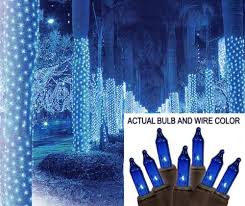Brown Wire Christmas Lights 2 U0027 X 8 U0027 Blue Led Net Style Tree Trunk Wrap Christmas Lights