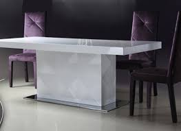 Modern White Dining Room Modern Glass Dining Room Tables For Well Dining Room Modern White
