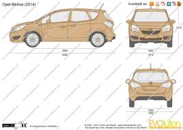 opel meriva 2014 the blueprints com vector drawing opel meriva