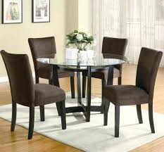 Circle Glass Table And Chairs Dining Table Round Glass Dining Table 2 Chairs And 4 Ebay India