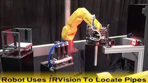 new fanuc lr mate 200id robot deburrs ventilation pipes fanuc