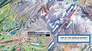Whistler Canada Map by Top Of The World Summit Whistler Blackcomb