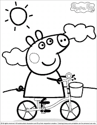 coloring picture annie peppa pig colouring craft