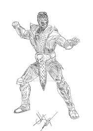 mortal kombat scorpion coloring pages mk 9 scorpion quick sketch