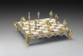 theme chess sets medioevale medieval gold and silver theme chess set