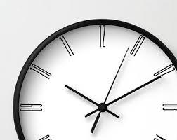 stylish wall clock etsy