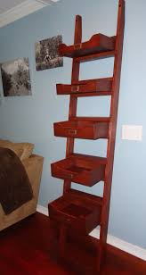 Leaning Ladder Bookcases by Michael U0027s Leaning Ladder Shelf The Wood Whisperer