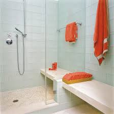 glass tile shower bathroom contemporary with bathroom lighting
