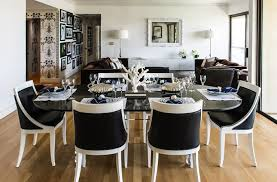 Black Dining Room Chairs Decorating Ideas - Black and white contemporary dining table