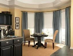Kitchen Bay Window Curtain Ideas by Simple But Adorable Bay Window Curtains Designs