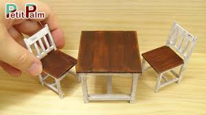 How To Make An Armchair Diy How To Make Miniature Table U0026 Chair Vintage Paint Tutorial