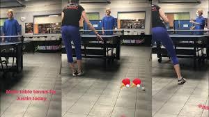 table tennis los angeles justin bieber anastasia rybka playing table tennis in los angeles