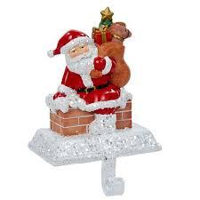 kurt adler 6 1 2 resin santa with gift box holder