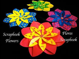 Flower Design For Scrapbook Origami Maniacs 128 Scrapbook Flower 2 Flor Scrapbook 2 Youtube