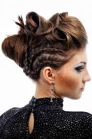 Hochsteckfrisurenen Mittellange Haar Geflochten by Halb Geflochtene Hochgesteckte Abendfrisur Hochsteckfrisuren Für