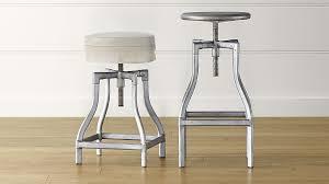 cushioned bar stool turner gunmetal adjustable backless bar stools and linen cushion