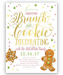 christmas brunch invitation wording brunch cookie decorating christmas party invitation sea paper