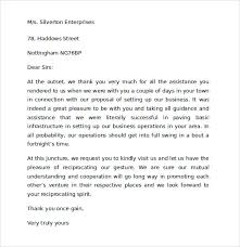 sle thank you for your business letters 7 sles exles