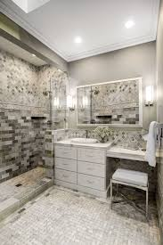 bathroom backsplash focal point tile glass water napier mosaic