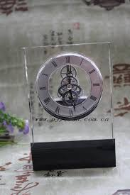 elegant good quality crystal mechanical clock for wedding gift
