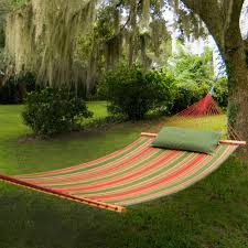 pawleys island trellis garden large quilted fabric hammock with