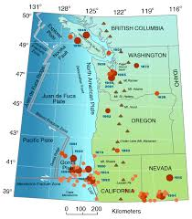 Oregon Map Us by Living With Earthquakes In The Pacific Northwest