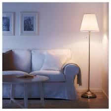 årstid floor lamp nickel plated white ikea