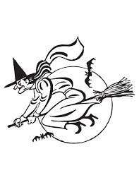 flying witch coloring page download free flying witch coloring