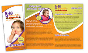 preschool kids day care rack card template design daycare ad