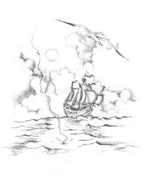 the ship drawing 2 jpg stock illustration image of clouds 15688099