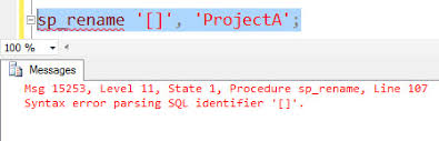 rename table name in sql sql server rename a table name containing or in the name