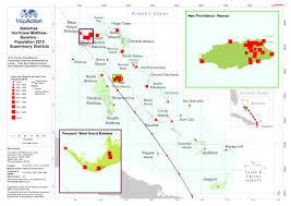 Map Bahamas Bahamas Hurricane Matthew Baseline Population 2010