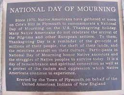 thanksgiving is also a national day of mourning