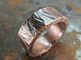 cool mens rings wide mens ring copper bold copper ring cool mens ring