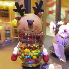 Wholesale Victorian Christmas Decorations by Navidad Candy Jar Santa Claus Snowman Plastic Sugar Bowl Indoor