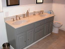 refinish bathroom vanity ideas with solid colors and modern pullers