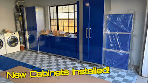 new age performance plus cabinets garage makeover part 2 newage performance plus cabinets install