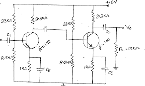 Transformer Coupled Transistor Amplifier Schematic Circuit Diagram Of Two Stage Rc Coupled Amplifier On Circuit