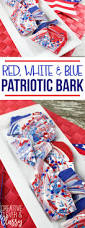 Red White And Blue Chocolate Red White And Blue 4th Of July Chocolate Bark Patriotic Dessert