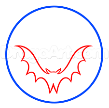 halloween bat moon drawing lesson step by step halloween