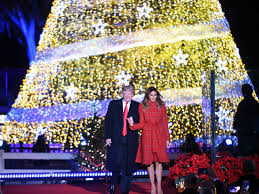 2017 national christmas tree lighting in christmas tree lighting president trump recalls the birth of
