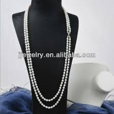 pearl necklace costume images Long strand real freshwater pearl necklace costume jewelry jpg