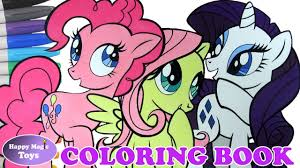 mlp pinkie pie fluttershy rarity coloring book my little pony