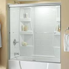 Sliding Bathtub Shower Doors Bathtub Doors Bathtubs The Home Depot Bathtub Shower Doors Clear