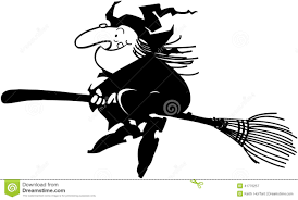 witch silhouette clipart halloween witch cartoon design vector clipart stock vector image