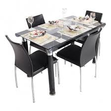Black Glass Dining Table And 4 Chairs 45 Dining Table Set With 4 Chairs Dining Set Table 4 Chair