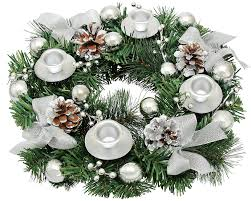 amazon com silver ribbon christmas advent wreath gift boxed in a