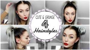 a quick and easy hairstyle i can fo myself grunge cute hairstyle s quick easy evelina forsell youtube